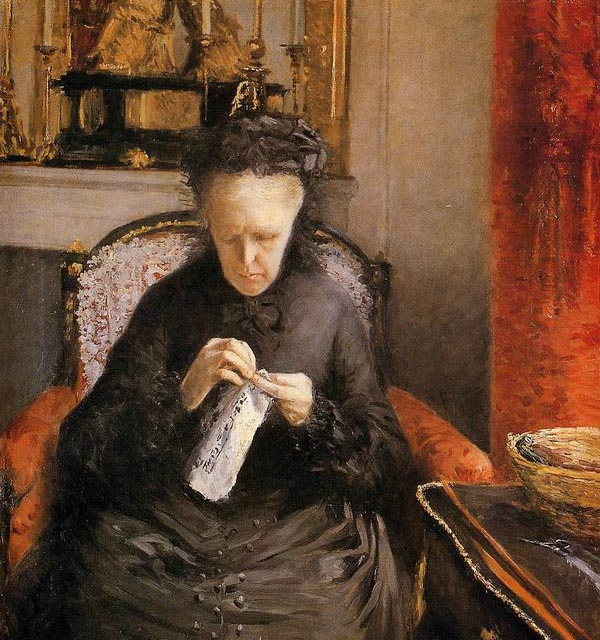 Gustave Caillebotte Portrait of madame-martial-caillebote-the-artist-s-mother