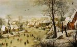 Winter Landscape with Bird Trap 1601